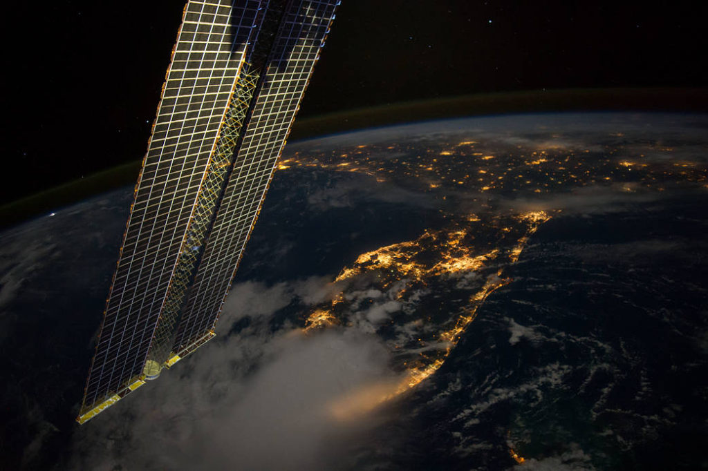 NASA photo of Florida and Louisiana at night from in 2016, The photo was taken from the International Space Station. Photo courtesy of NASA.