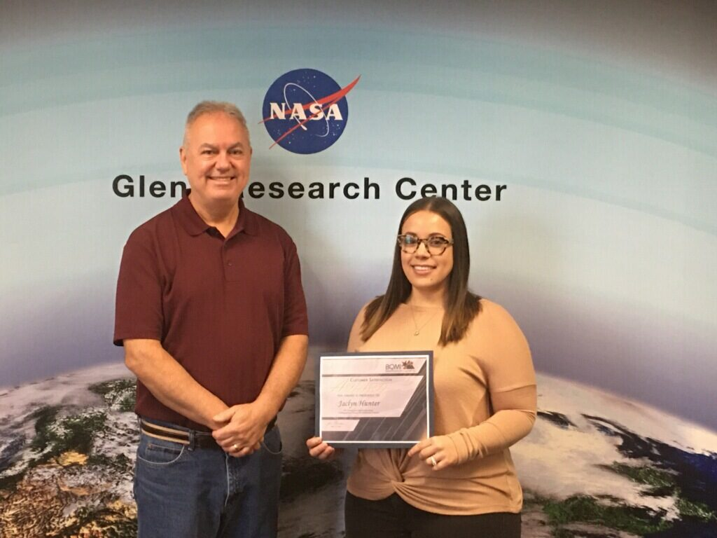 Jackie H. was recognized for her contribution to her group's (Glenn User Assistance Team (UAT)) winning of an agency wide award.